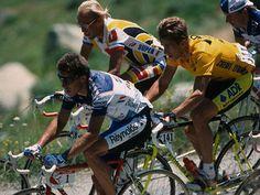 Pedro Delgado, Laurent Fignon, Greg Lemond (Tour de France 1989)