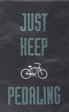 'Just Keep Pedaling' LED Canvas Tapestry