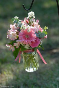 Winston Salem Florist - Mason Jar Wedding Flowers