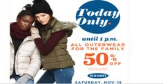 Old Navy 50% off Out