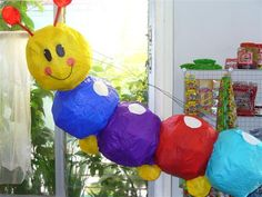 Baby Einstein pinata, I could totally make this!
