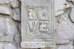 "Paperie Sweetness: ""Love"" mini wall hanging"