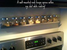 Spice rack idea @Lisa Phillips-Barton Marett
