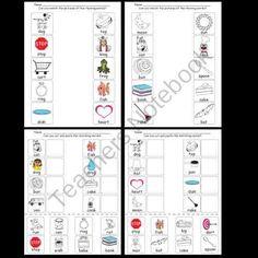 Kindergarten Rhyming Worksheets / Activities product from Kindergarten-Supplies on TeachersNotebook.com