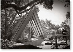"""Retro A-Frame photo, from """"A-Frame,"""" by Chad Randl, from Princeton Architectural Press"""