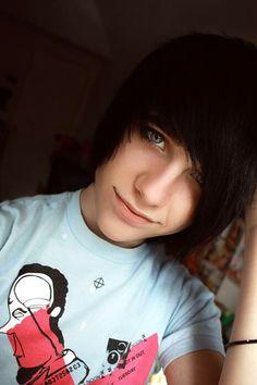 emo boy black hair