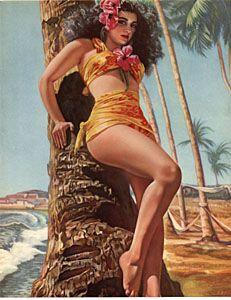Hawaiian Pin up Girl