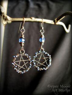 Pentacle Pentagram Earrings