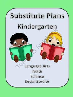 Substitute Lesson Plans for Kindergarten from Sallys Shoppe on TeachersNotebook.com -  (130 pages)  - This packet includes lesson plans complete with worksheets and resources.  15 lesson plans cover R/LA, math, science and social studies.  These lessons were  written for a Kindergarten classroom using the U.S. Common Core Standards.  The book The Napping