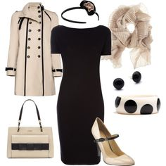 """black and cream"" by lulums on Polyvore"