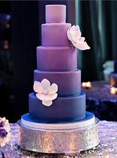 Stunning purple wedding cake