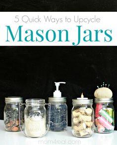 5 Quick Mason Jar Ideas That Take Minutes!