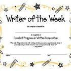 Celebrate a different budding writer each week! This fun award certificate is ready to print....