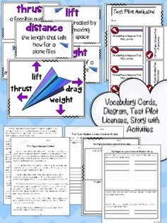A PAPER AIRPLANE UNIT: AN INTEGRATED LITERACY, MATH & SCIENCE UNIT {COMMON CORE} - TeachersPayTeachers.com