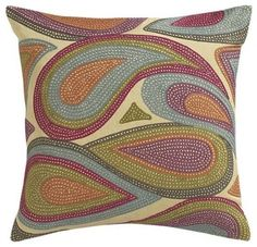 paisley pillow, color, perfect pillow