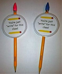 A fun new pencil is always a great first day of school gift to students! I used to give my kiddos a mechanical pencil that we could only use at set times. They were special because they couldn't be used every day.