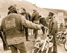 Satan slaves mc outlaw usa #satanslaves #mc #motogang #1% #vintage #chopper