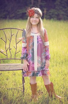 Girls Boho Paisley Lace Dress 4 to 16 Years Now in Stock