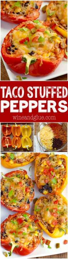 These Taco Stuffed Peppers are such an easy weeknight dinner that are packed???
