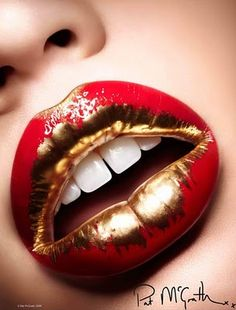 Pat McGrath - Red & gold lips