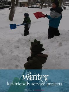 winter kid-friendly service projects