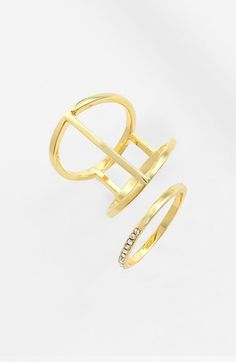 Ariella Collection Pavé & Cutout Rings (Set of 2) available at #Nordstrom