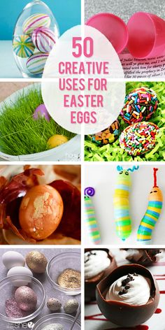 50 Creative Ways to Use Easter Eggs  #howdoesshe #easter #eastereggs #creativeeastereggs #eastereggideas #creativeeasterideas #eggs #eastercrafts howdoesshe.com