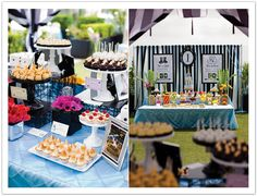 A super creative dessert bar for a Monopoly Korean 1st Birthday Party designed by Alchemy Fine Events www.alchemyfineevents.com