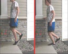 Achilles Exercise 2: The bent knee eccentric heel drop.