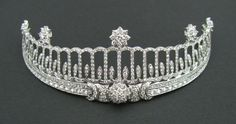 Baden Tiara, Germany (made by Cartier; diamonds). Once belonged to Princess Hilda of Nassau, Grand Duchess of Baden.