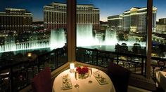 For a breathtaking view of the Strip and the fountains at the Bellagio, skip the observation deck at Paris Hotel / Casino & check out their Eiffel Tower Restaurant instead. It's a floor below, with the same view, and you can get a drink there at the bar just as cheaply as paying to go up to the observation deck. Better value!