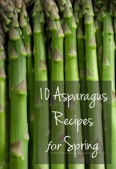 10 Asparagus Recipes for Spring I Healthy Recipes #HealthyRecipes
