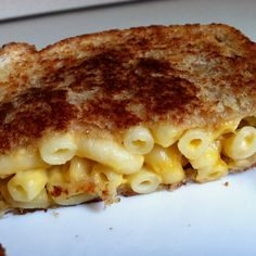 Grilled macaroni and cheese using leftover bob evans Mac and cheese