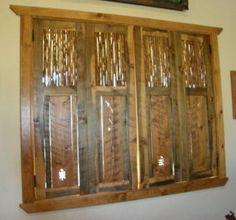 Custom interior window shutters