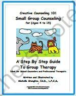 Creative Counseling 101 Group Therapy eBook from Creative Counseling Ideas on TeachersNotebook.com -  (253 pages)  - This eBook includes 252 pages of step by step group therapy ideas including grief, anger management, friendship, self-esteem, positive behavior, stress management and more!
