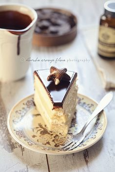 Boston cream pie with belgian topping
