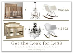 get the look for less eclectic nursery
