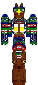 Totem pole crafts, links, printable patterns, information.