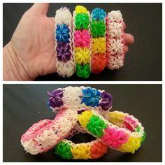 "New ""Powder Puff"" Rainbow Loom Bracelet/ How To Tutorial"