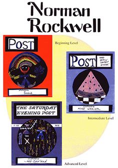 Rockwell Art Projects for Kids:  Norman Rockwell was enormously important as a guide to the American way of life during his lifetime.  When the times called for it, he portrayed tragedy, hope, or peace.  He saw the poetry, beauty, humor, and sadness of everyday life and made others see it.  The art projects, created by the children, involve creating a cover for The Saturday Evening Post Magazine.