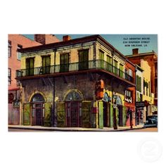 vintage posters, new orleans, vintag postcard, houses, vintag poster, hous vintag, awesom hous, vintage linen, absinth hous