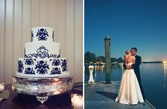 Blue and White Wedding Ideas - Great Cake!