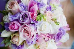 color combo, white roses, wedding bouquets, spring weddings, wedding colors, purple bouquets, purple roses, color scheme, flower