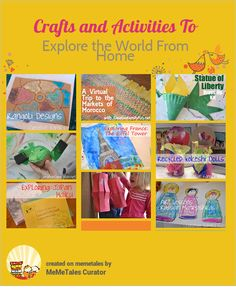 Crafts And Activities To Explore The World From Home {from Creative Family Fun}
