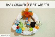 DIY Baby shower Gift Wreath