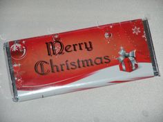 candy bar wrapper..great Christmas gift or gift tag