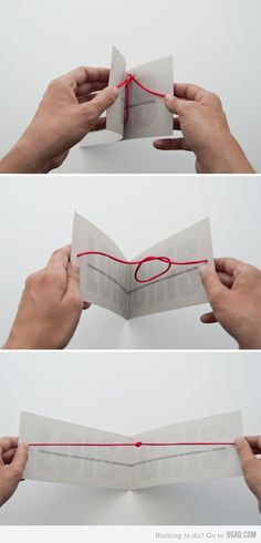 Love this wedding invitation idea for Tying the knot...