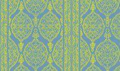 Harem Print  Yellow on Blue