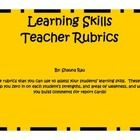 6 rubrics for learning skills based on the Ontario Curriculum! $ A rubric for each skill!  Makes it much easier when writing report card comments.