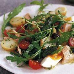 Salade Niçoise met gerookte forel
